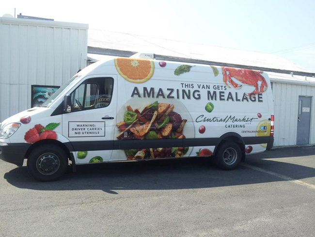 Custom Van Wraps for Central Market Catering