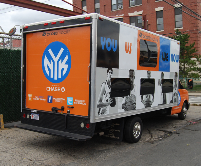 Box Truck  Wrap for NY Knicks in New York, NY