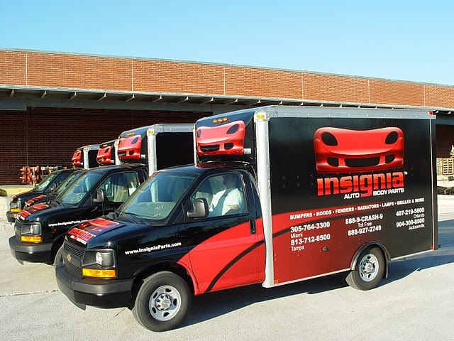 Custom Box Truck Wraps for Insignia auto body parts in Jacksonvill