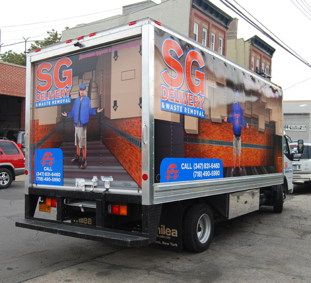 Box Truck wrap for Sg Delivery in NY, NY