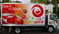 Truck Wrap for Jello