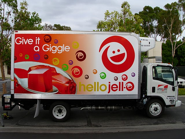 Box truck wrap for Jello in Los Angeles, CA