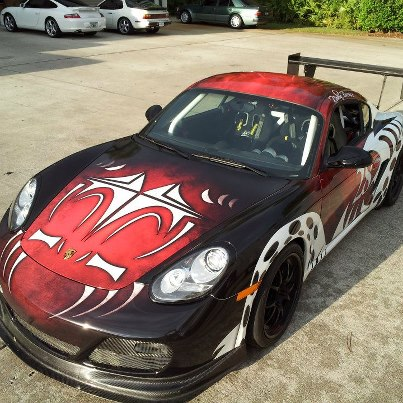 Custom car graphics wraps installed on a Porsche in Los Angeles