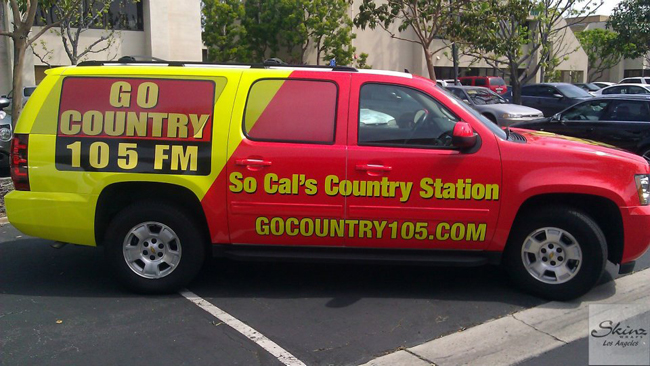 SUV wrapped for Go Country in Los Angeles