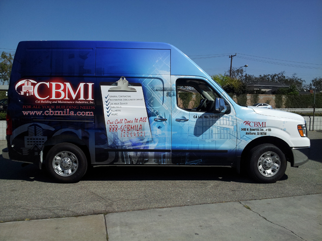Custom vinyl wrap for CBMI in LA