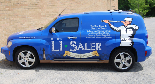 Chevy HHR wrap for LI Saler in Long Island, New York