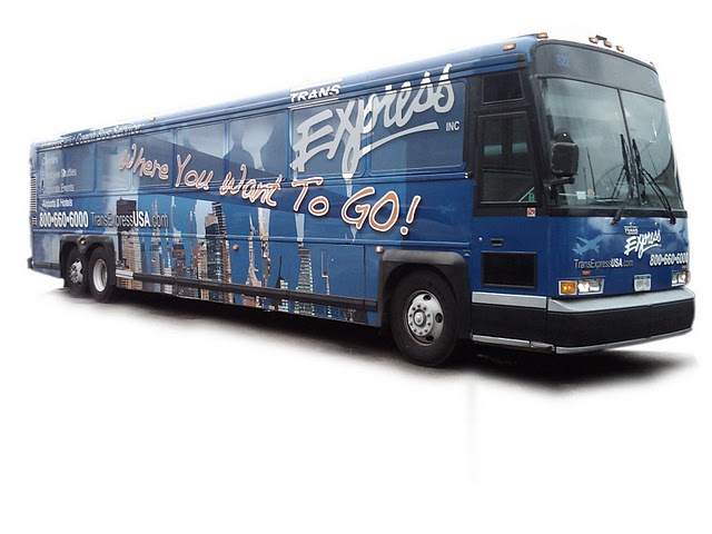 Coach Bus Wraps for Trans Express, Inc in Brooklyn, NY