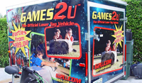 Custom trailer vinyl graphics wraps for Games 2 U in Jupiter