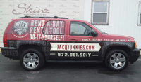 SUV wraps for Jack Junkies in Plano