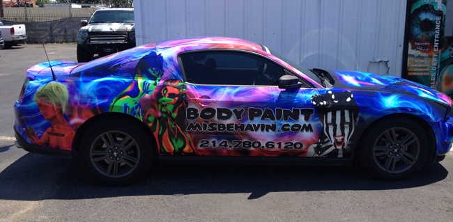 Custom car wraps for Body Paint Misbehavin Dallas, TX