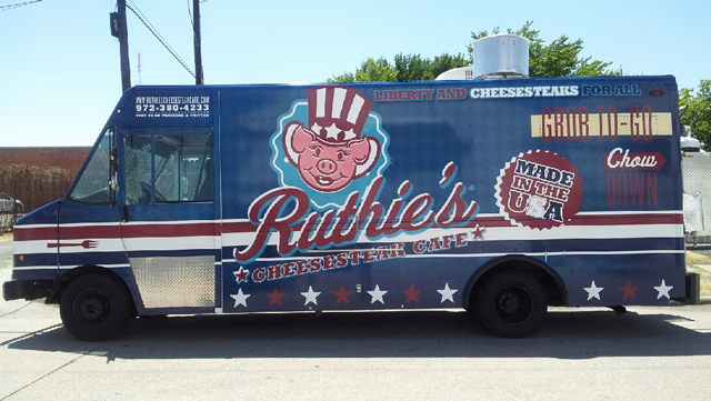 Custom truck wraps for Ruthie's Food truck, Dallas