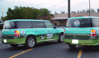 Fleet vehicle wraps on Ford Flex for Silk Milk in Tampa, Florida