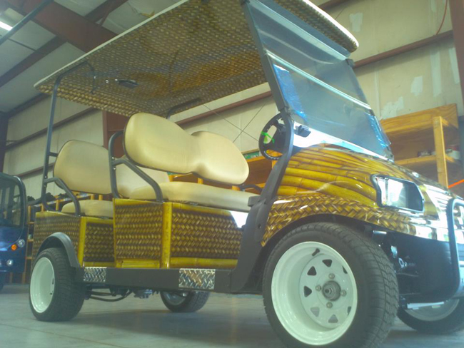 Golf cart wrapped