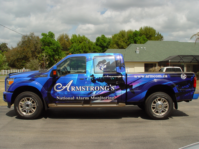 Custom truck wrap, FL