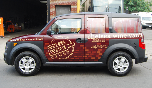 Honda Element Wrap for Chelsea Wine Vault in NYC, NY