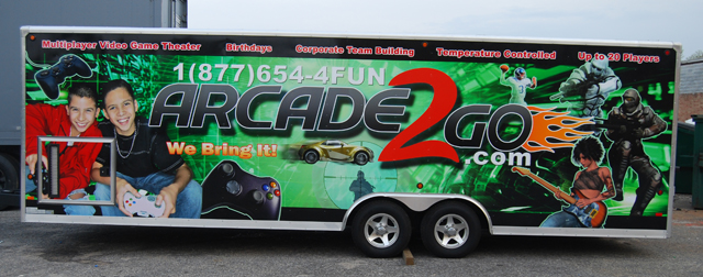 Large Trailer Wrap for Arcade2Go in New York, NY