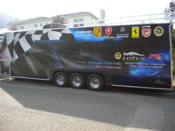 Trailer graphics wraps for Michael Weinreb 28' trailer in Los Angeles