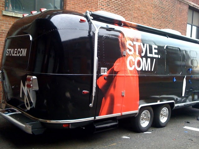 Airstream Trailer wrapped in New York