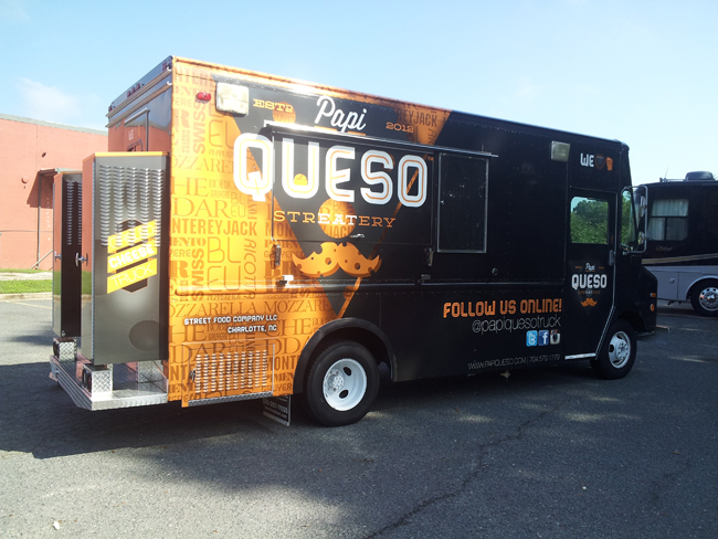 Food Truck Wrap for Papi Queso Charlotte, Carolina
