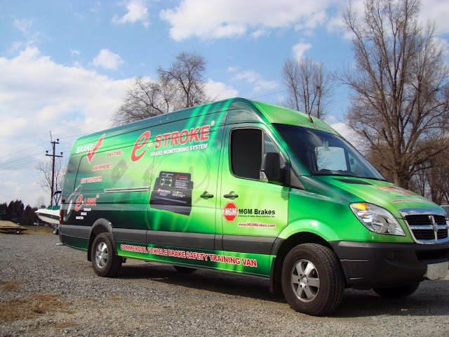 Full van wraps for MGM brakes in Charlotte, NC
