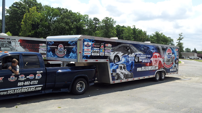 Trailer Wrap for US Legend cars race Charlotte, North Carolina