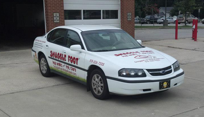 Custom car wraps for Snaggle Foot pet care, NC