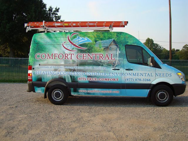 Van wrap for comfort central in Pisgah Forest, NC