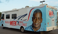 RV Wrap for Kendrick Meek Campaign in Miami, FL
