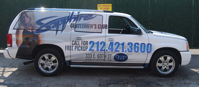 SUV Wrap for Sapphire New York, NY