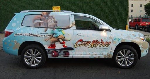Full SUV wraps of a Toyota Highlander for Club Kid'doo in Montclair, New Jersey