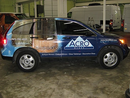 SUV wraps for Acro Glass in Dallas TX