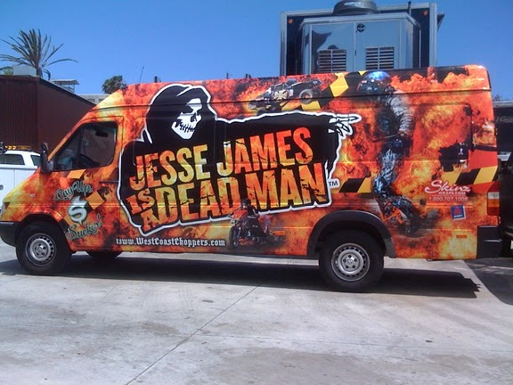 Sprinter vinyl wraps for Jesse James in California