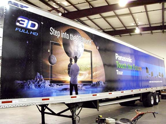 Custom trailer wrap for Panasonic in Los Angeles, CA