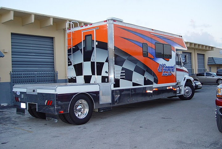 Truck and trailer wrap for El General Racing in Miami, Florida