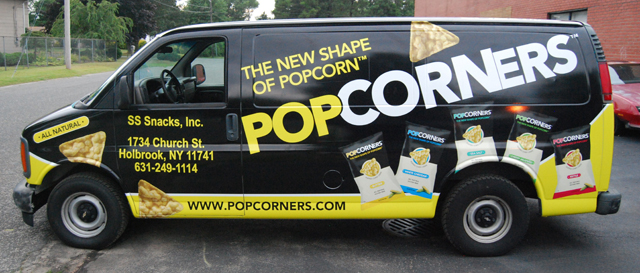 Van Wraps for POPCORNERS in Long Island, NY