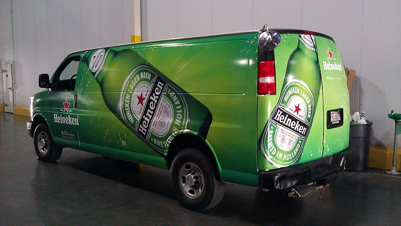 Vinyl graphics van wraps for Heineken in L.A