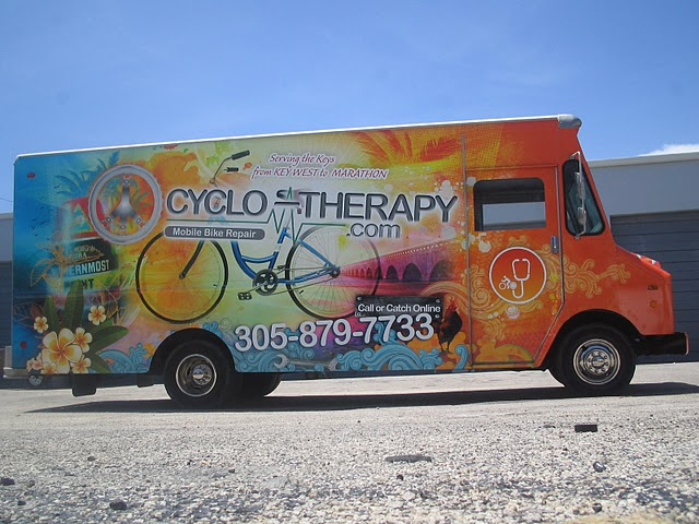 Custom vehicle wraps for Cyclo-Therapy in Miami, Florida