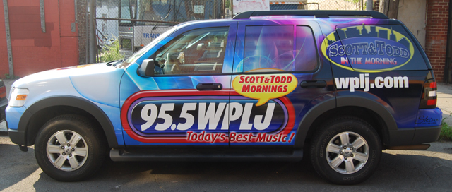 Vehicle Wraps on a Ford Explorer for WPLJ Radio Station in New York, NY