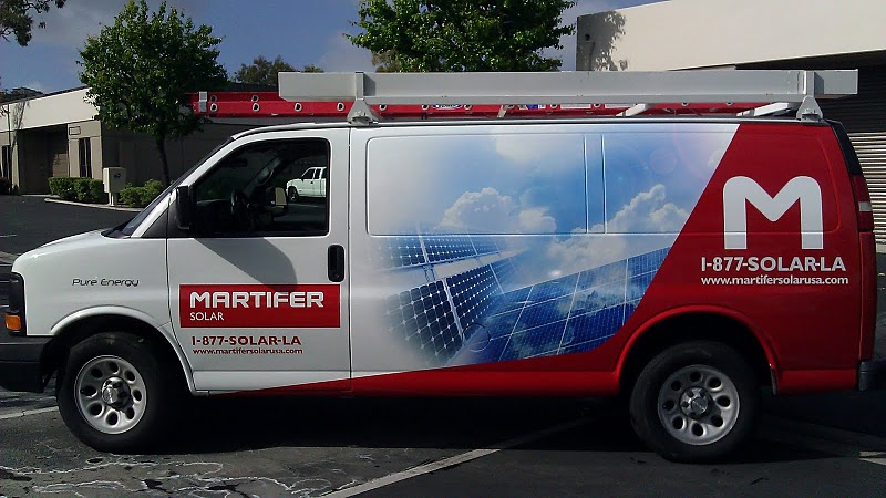 Vehicle wrap for Martifier Solar in Los Angeles,CA