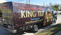 Shuttle bus wraps for the Dallas Museum Of Art in Dallas TX