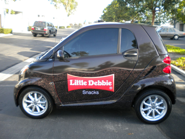 Car Vinyl wraps for Little Debbie on smartcar in L.A