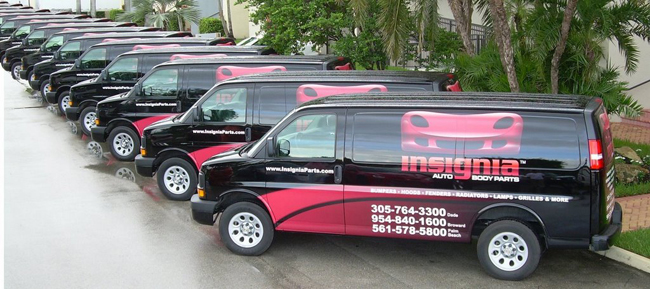 Vinyl graphics van wraps for insignia fleet in Florida
