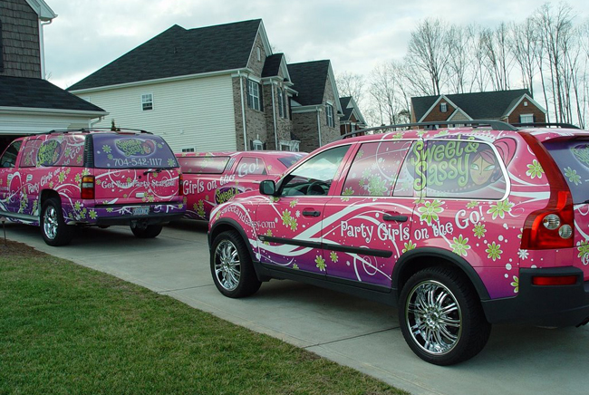 Fleet graphics van wraps for Sweet Sassy in Dallas