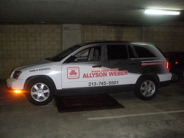 Vehicle wraps for State Farm Agent Allyson Weber in Los Angeles
