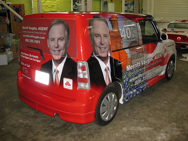 Vehicle wraps for State Farm Agent Merritt Vaughn in Dallas