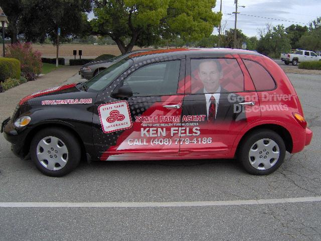 Car wraps for State Farm Agent Ken Fels in San Jose, CA