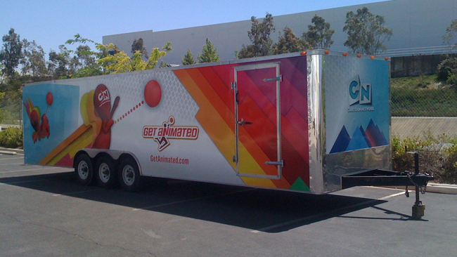 Custom trailer wraps for Get Animated in California