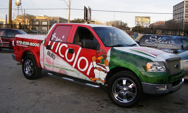 Full ford truck wraps-Tri Color auto in Dallas TX