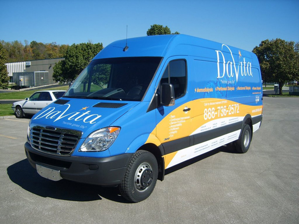 Custom van vinyl wraps Davita in North Carolina