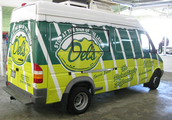 Full sprinter wraps Dels frozen lemonade in Dallas